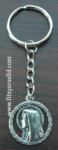 Mary Mother of Jesus Metal Keyring Religious Holy Key Ring Gift Souvenir